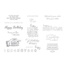Bring on the Cake SVG Stamp Brush Set $8.95 --Digital Download includes: 13-piece stamp brush set is perfect for all ages. Birthday sentiments and stylings are vintage, modern, and everything in between.