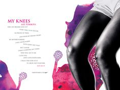 nike: my knees. when i was 14 i tore this ad from a magazine...and i still have it.