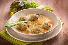 Zöldségleves rizzsel és húsgombóccal Recept képpel - Mindmegette.hu - Receptek Thai Red Curry, Ethnic Recipes, Food, Essen, Meals, Yemek, Eten