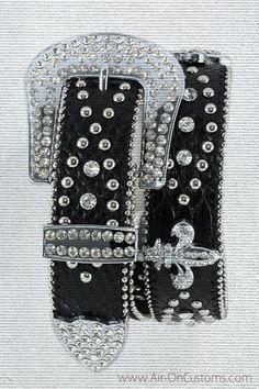 AOC Wear by Air-On Customs - Western Rhinestone Fleur de Lis Belt, $33.92 (http://store-549e1.mybigcommerce.com/western-rhinestone-fleur-de-lis-belt/)