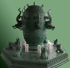Ancient Chinese seismograph.