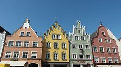 Landshut, By, Bayern, Historisk, Syn