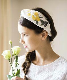 SINDEE(シンディー)のbotanical HAIR BAND(ヘアバンド) ホワイト