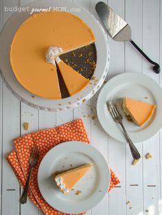 Orange Creamsicle Cheesecake.  I'm making this for Easter dinner tomorrow as my dad loves creamsicles.