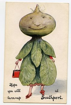 vintage postcard vegetable
