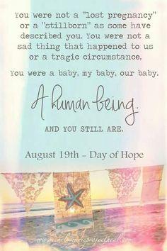 Day of Hope August 19. Break the Silence