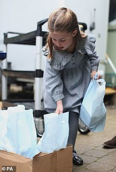 To mark her birthday, Kensington Palace has released new pictures of Charlotte as she helped her parents deliver home-made pasta to vulnerable Norfolk residents isolated by coronavirus earlier this week – a royal 'meals on Wills', you may say Princesa Charlotte, Princesa Kate, Carole Middleton, George Of Cambridge, Duchess Of Cambridge, Royal Princess, Little Princess, Princess Style, Norfolk