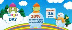 Giovedì 14 Gennaio tutto il sito www.gugapluff.it in sconto del 10% YouClay -30% Stile foro Largo -40%
