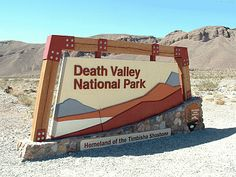 Death Valley National Park in the state of California