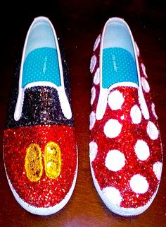 DISNEY SHOES mickey mouse minnie mouse inspired <3