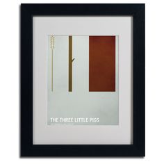 Christian Jackson 'The Three Little Pigs' Framed Giclee Print Matted Art by…
