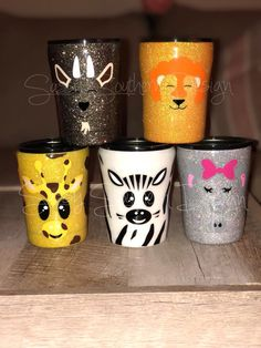 Glittered Assorted Animal Tumblers 10oz Check us out at www.facebook.com/sassysoutherndesigncompany