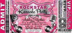Karaoke Birthday Party Invitation Templates