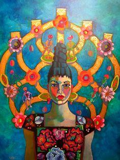 Trees of Life by Kathy Sosa © Tree Of Life Painting, Tree Of Life Art, Religious Images, Painting Studio, Art Education, Magazine Art, Art Market, Art Forms, Folk Art