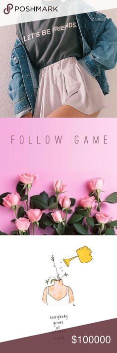 🎀LIKE•FOLLOW•SHARE🎀 Hey guys 👋🏼 Join me for my VERY FIRST follow game!! ☺️💕 It's easy, like and share THIS listing and FOLLOW everyone else who has liked it as well!! When the price drops, do it all over again and watch your followers grow! 💘 Let's all share a little Posh love!! ☺️ Other