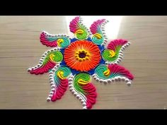 How to make easy and simple/unique border rangoli designs by Jyoti Rathod Rangoli has a unique place in Indian culture, Rangoli is an Indian art. The rangoli. Easy Rangoli Patterns, Rangoli Borders, Rangoli Border Designs, Rangoli Colours, Rangoli Ideas, Kolam Designs, Rangoli Designs Latest, Colorful Rangoli Designs, Rangoli Designs Diwali