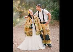 150  Ways to Make Your Wedding Unforgettable - Wedding Photos - An Ode to Their Profession  Personalize your photos, song list, or even the way that you're introduced into your reception with a nod to you or your husband's profession! Wear each other's firefighter jacket and hat, military beret or doctor's lab coat.