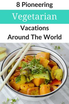 Whether you need a vegan vacation or vegetarian getaway, we've got you covered. In fact, we're sharing our top eight choices, whether you want to enjoy vegetarian meals when traveling to India, visiting Nicaragua for a vegan retreat, taking a trip to Washington state to eat ethically on an island, or something else! #meatfree #veggietravel #responsibletourism