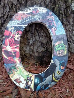 Justice League comic book letters by LetterItBe on Etsy, $10.00