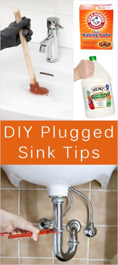 Tips For Clogged Sinks & Homemade Drain Cleaner Recipe