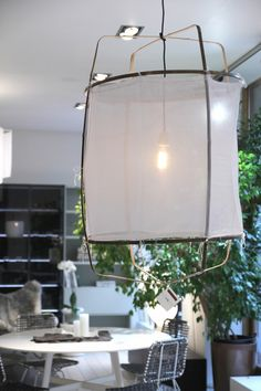 Casuarina - valaisin bambusta ja kankaasta Let Your Light Shine, Home Furnishings, New Homes, Lighting, Lamps, Interiors, Home Decor, Google, Lightbulbs