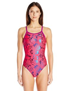 96b42fbe7d2 The Finals Adult Womens Disco Cat Foil Flutter Back Swimsuits Pink Size 30  ** See this great product.