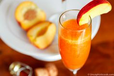 Frozen Peach Bellinis Made with Fresh Peaches- Unsophisticook