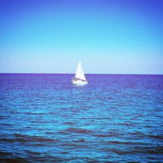 Sailing away.... #southflorida #natureshots #atlanticocean# #beach #naturelovers #ocean #pier #sailboat #bluesky by di_cromer