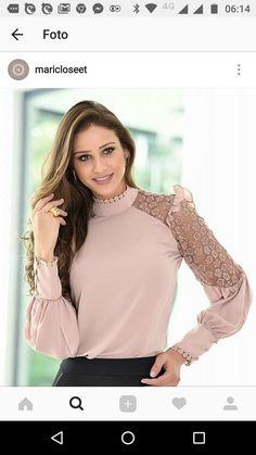 Blouses for women – Lady Dress Designs Kurta Designs, Blouse Designs, Hijab Fashion, Fashion Dresses, Kurti Sleeves Design, Dress Neck Designs, Blouse Dress, Indian Designer Wear, Blouse Styles