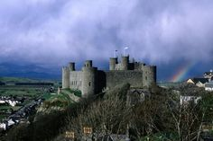 Harlech, a proper looking castle in an amazing position.