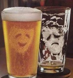 A beer glass that does an impression of me!