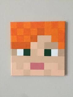 *Minecraft inspired Pig 12x12 or 10x10 inch square canvas *Lightweight and easy to hang *Acrylic paint with high gloss enamel finish *Other weapons & characters available (i.e. sheep, cow, slime, diamond ore, diamond sword, Iron sword, diamond pickaxe); if there is a specific