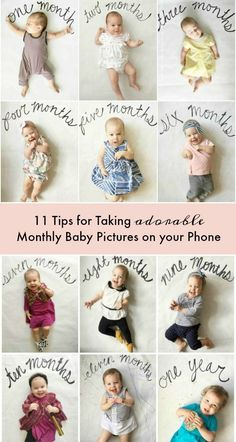 Tips for taking monthly baby pictures