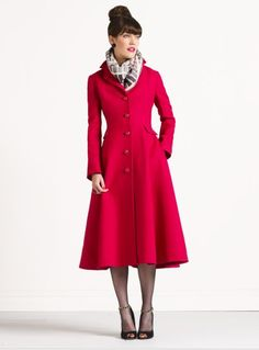"Love that this crushed raspberry coat and I share the same name. The ""Patrice"" by kate spade."