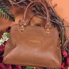 BECHAMEL PURSE  Caramel colored purse with several compartments inside and a top zip closure.. Bag is in gently used condition with no tears and minimal wear inside and out Bechamel Bags