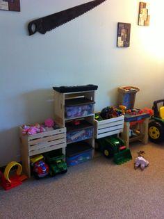 Crate toy storage