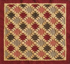 Video tutorial available on their website. Blocks are created with folded squares in the corners. Log Cabin Quilt Pattern, Log Cabin Quilts, Log Cabin Designs, Native Style, Squares, Quilt Patterns, Nativity, Pineapple, Create Your Own