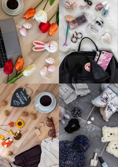 Flatlay Collage: Frühling, Sommer, Herbst, Winter Collage, Fall Winter, Seasons Of The Year, Summer, Collages, Collage Art, Colleges