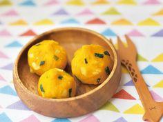 栗とかぼちゃを使った離乳食♪コロコロかわいい♡外食の時にも役立ちそう♪