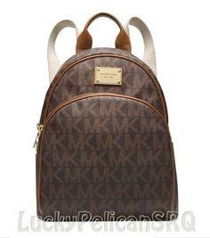 Michael Kors MK Signature Small Backpack PVC Brown NWT #MichaelKors #BackpackStyle