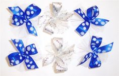 AC0915 - Snowflake/Winter Hair Bow Collection