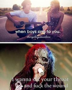 He can sing to me anytime.