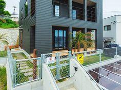 Tiny Container House, Diy Interior, Modern Industrial, Fence, My House, Facade, Terrace, Entrance, Villa