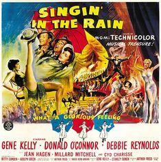 Cantando bajo la lluvia (Singin' in the Rain), de Gene Kelly y Stanley Donen, 1952