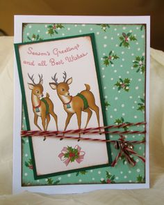 1950's Style Christmas Card With A Vintage Feel..... October Afternoon