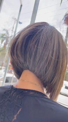 Angled Bob Haircuts, Inverted Bob Hairstyles, Cute Hairstyles, Very Short Hair, Short Hair Cuts, Short Hair Styles, Calvin Harris, Good Hair Day, Love Hair