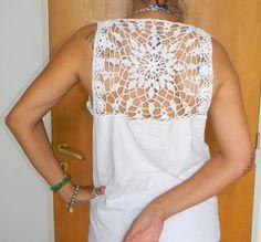 customização em camiseta www.pontoselacadas.blogspot.com