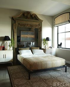 Salvaged Door Frame Headboard - via Willow Bee Inspired: Well Dressed Home No. 34 - Drama Club
