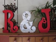 Wedding Reception centerpiece, red and black, wedding decor, photo prop, bride and groom sign, Mr & Mrs Wedding gift. $39.95, via Etsy.
