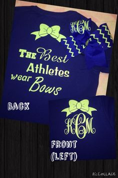 Cheer Monogram Shirt & Bow:
